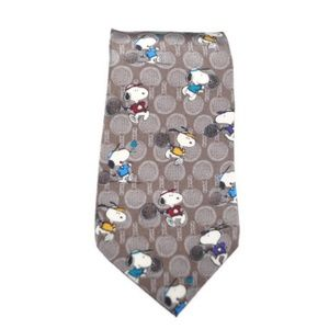 Snoopy & Friends Tie Necktie Tennis Peanuts